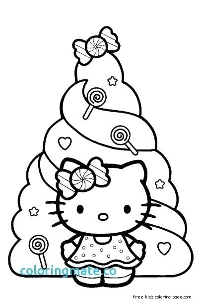 405x600 Hello Kitty Christmas Coloring Pages Free Print Hello Kitty