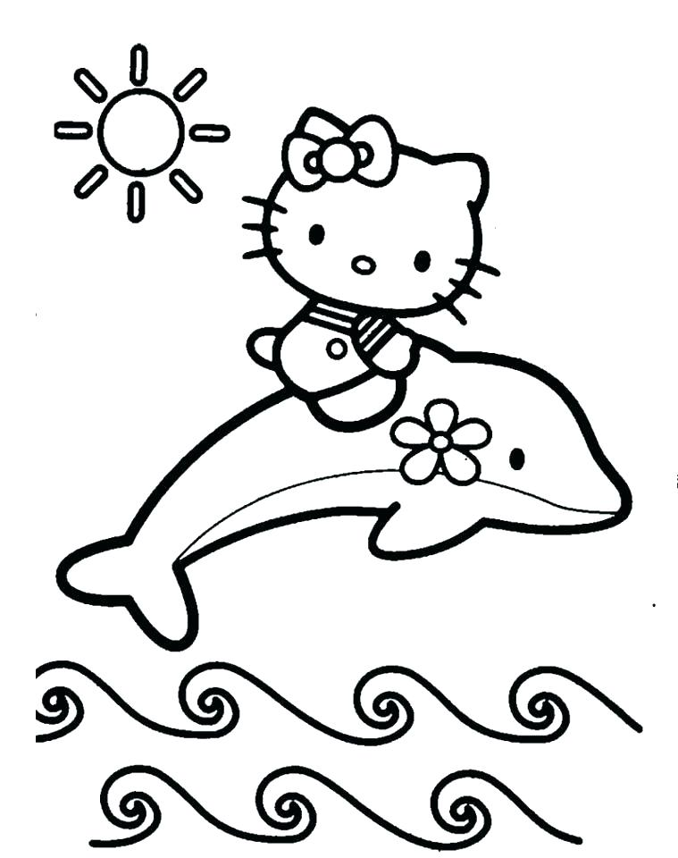 759x960 Hello Kitty Christmas Coloring Pages Hello Kitty Coloring Page
