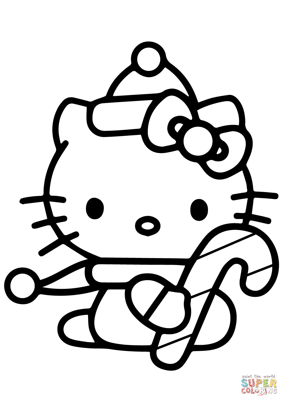 919x1300 Hello Kitty Coloring Page