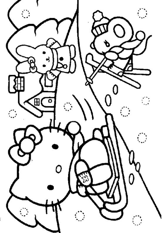 562x791 Coloring Pages Hello Kitty