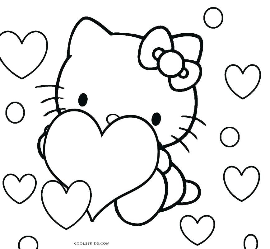 868x800 Hello Kitty Christmas Coloring Pages