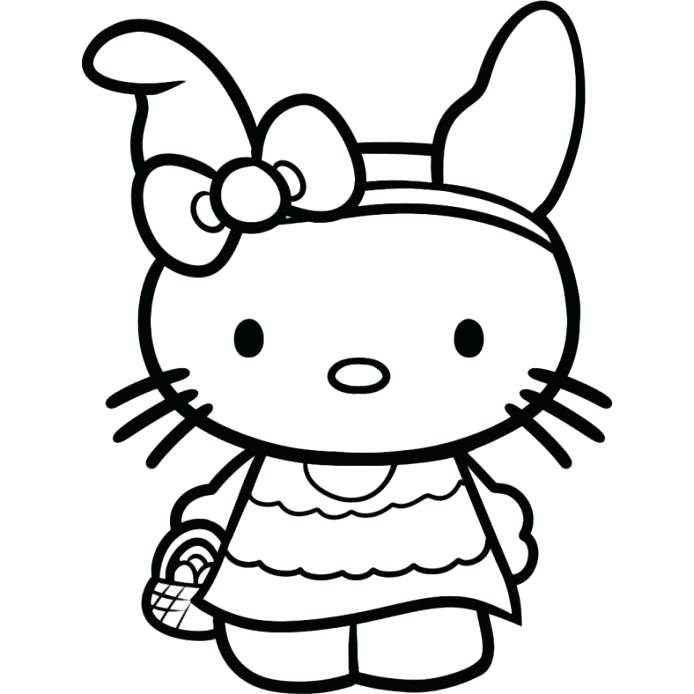694x694 Coloring Pages Hello Kitty Free Hello Kitty Printable Coloring
