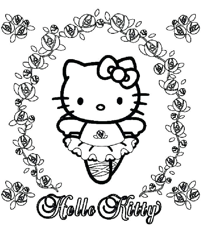 700x800 Hello Kitty Coloring Pages Ballerina Hello Kitty Coloring Page