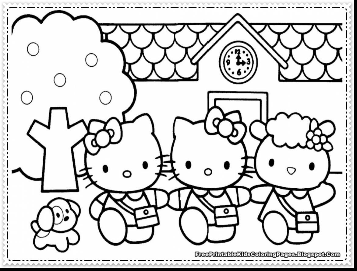 1172x891 Hello Kitty Coloring Pages Pdf Best Artsybarksy Unknown
