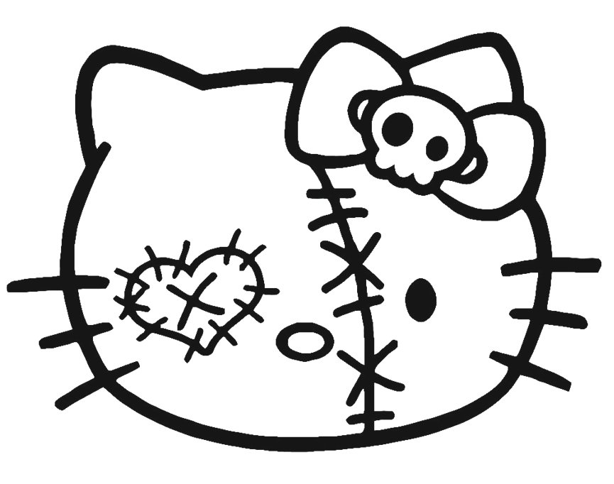 865x682 Hello Kitty Halloween Coloring Pages