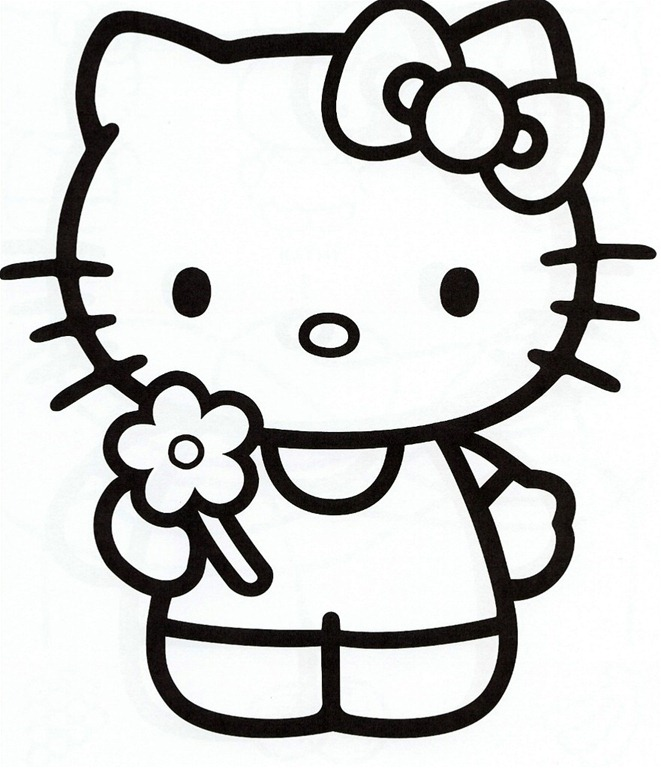 661x768 Hello Kitty Printable Coloring Pages Sheets