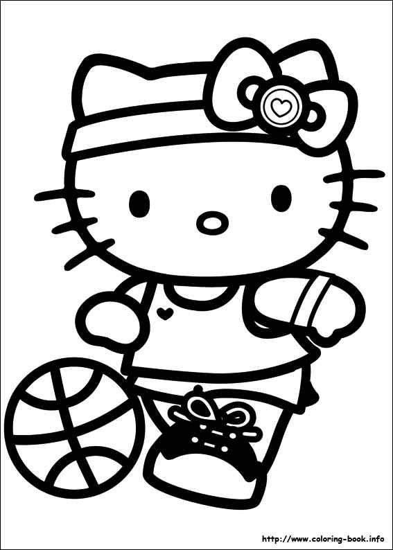 567x794 Hello Kitty Coloring Picture