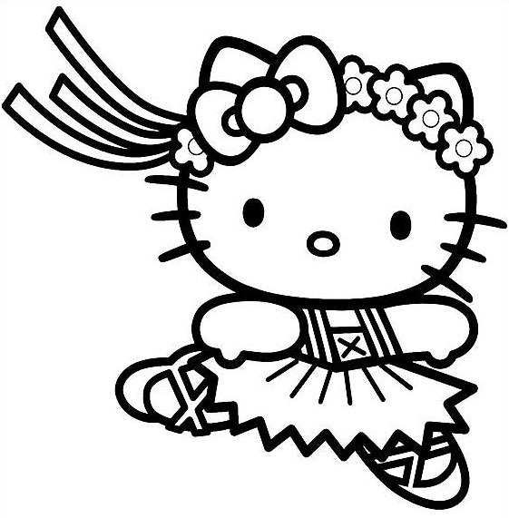 561x571 Free Printable Coloring Pages Hello Kitty Color Bros
