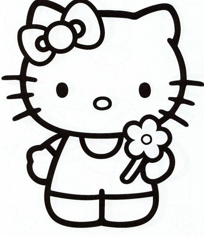 661x768 Girly Coloring Pages Girly Hello Kitty Coloring Page Cute Pages