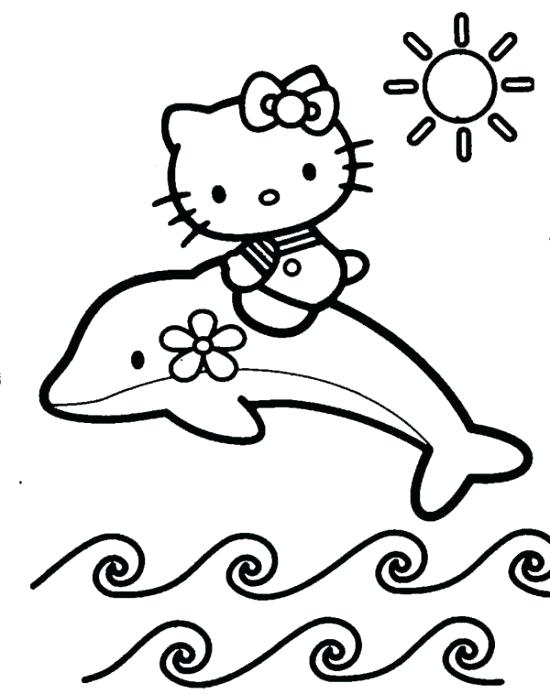 550x694 Baby Cats Coloring Pages Free Printable Hello Kitty Color Mas
