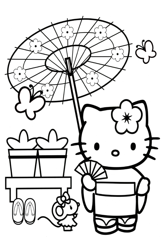 Hello Kitty Coloring Pages For Kids At Getdrawings Com Free For