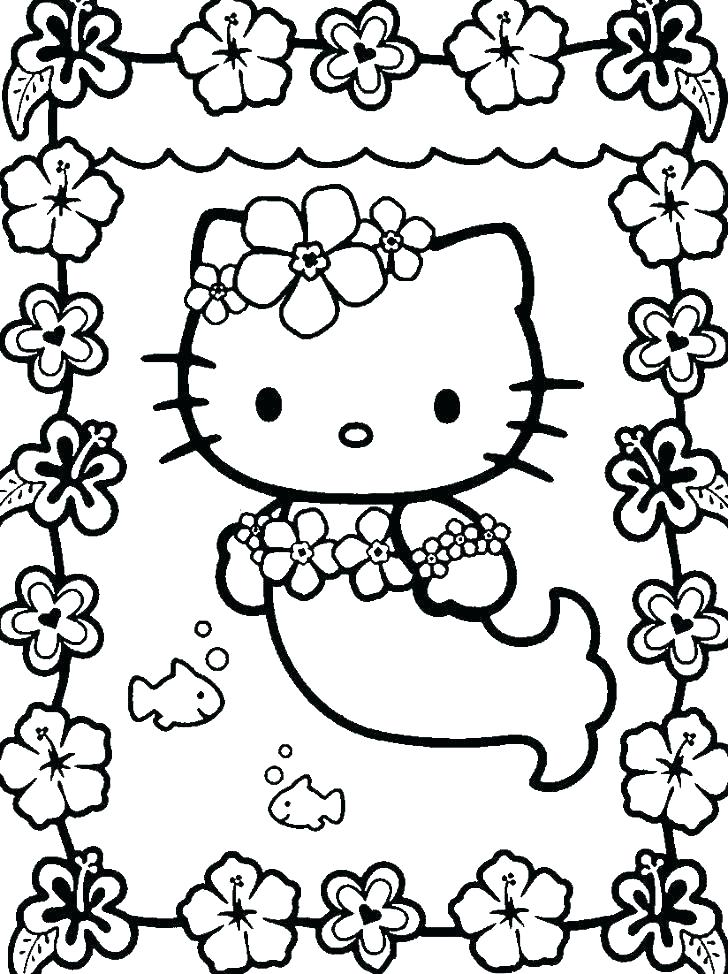 Hello Kitty Coloring Pages Images