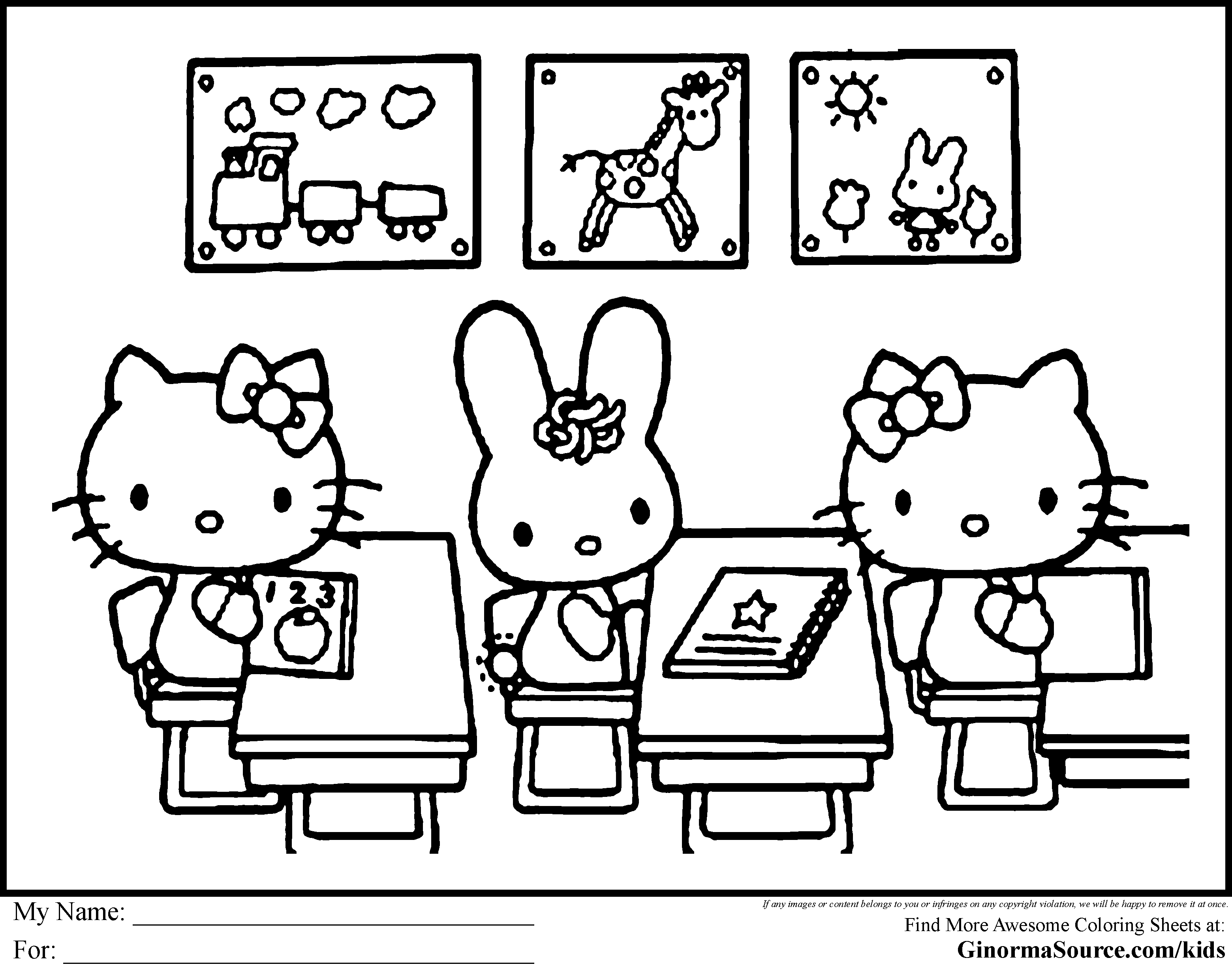 Hello Kitty Coloring Pages Images At Getdrawings Com Free For