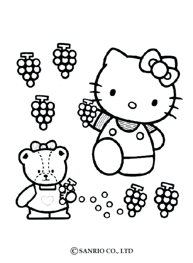 625x850 Kitty Color Pages Ballerina Hello Kitty Coloring Page Free Hello