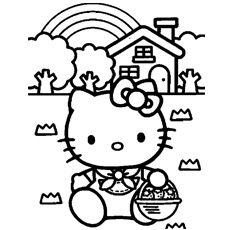 230x230 Printable Hello Kitty Coloring Pages For Kids Printables And Menu