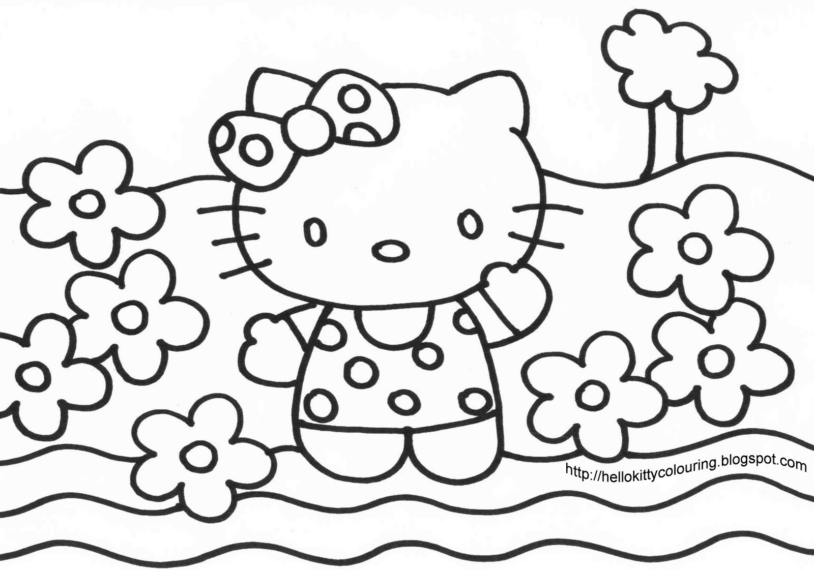 1600x1121 Hello Kitty Coloring Pages Coloring Sheets Scott Fay Kitty