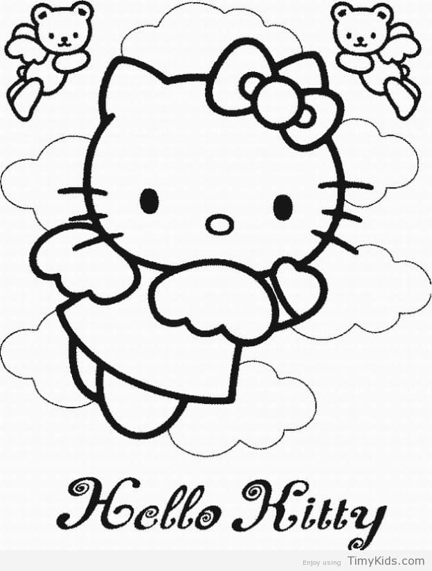 624x824 Hello Kitty Coloring Pages Online Timykids