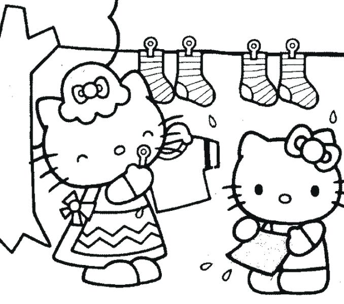 678x600 Free Coloring Pages Hello Kitty Printable Color Pages Free