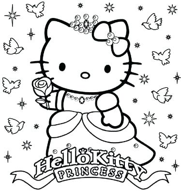374x400 Hello Kitty Coloring Page Cheap Hello Kitty Coloring Pages Print