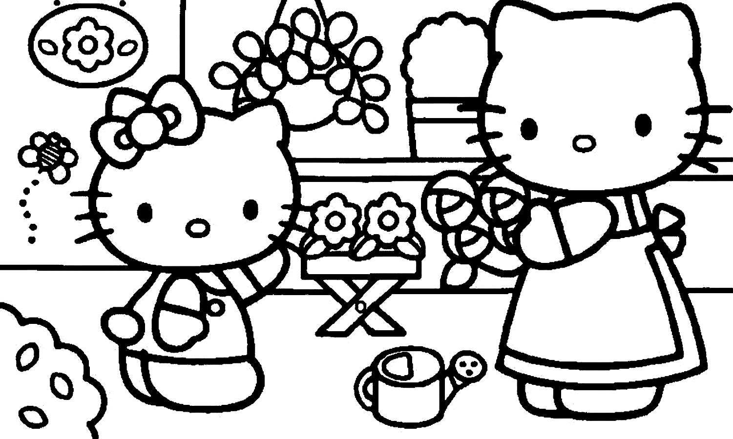 1501x900 Hello Kitty Coloring Pages Pdf