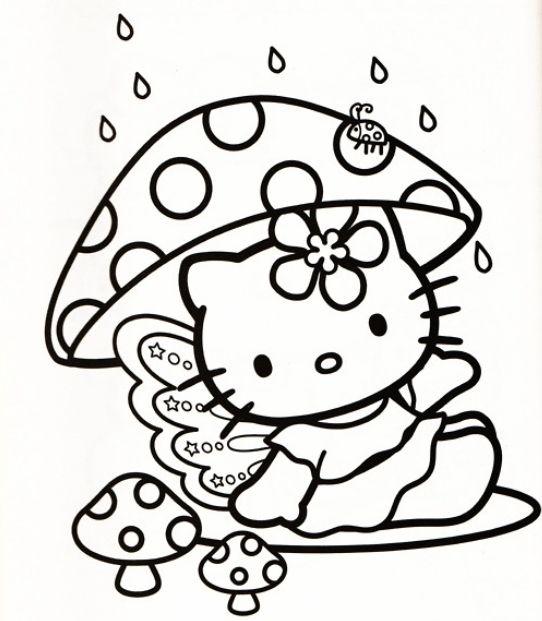 542x621 Hello Kitty Coloring Sheets Printables