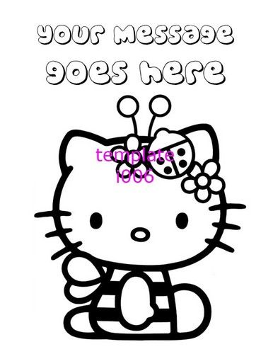 386x500 Hello Kitty Personalized Coloring Pages Pdf Only Hello