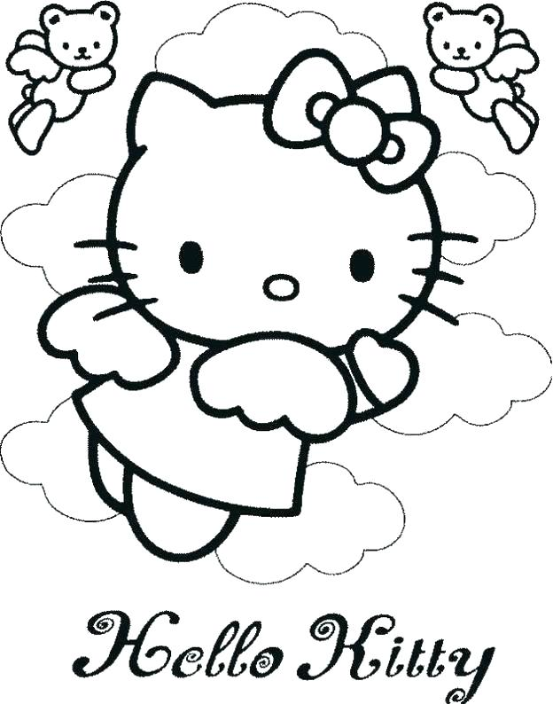 624x794 Coloring Pages Of Hello Kitty Free Printable Hello Kitty Coloring