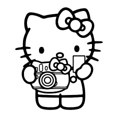 Hello Kitty Coloring Pages Pdf at GetDrawings | Free download