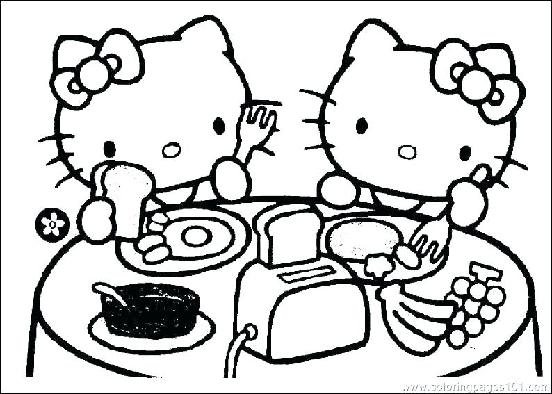 794x567 Hello Kitty Color Sheets