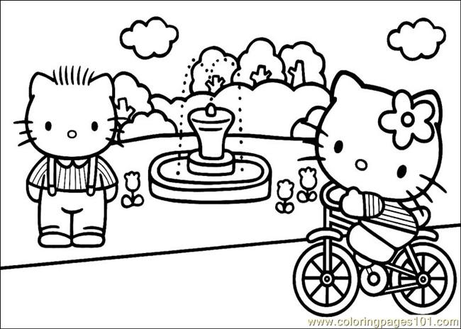 650x464 Hello Kitty Coloring Page