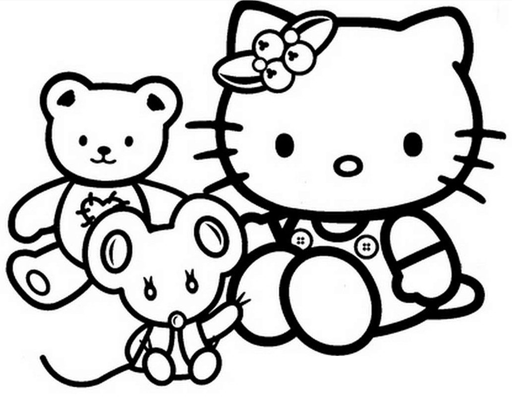 1033x803 printable coloring pages for girls hello kitty