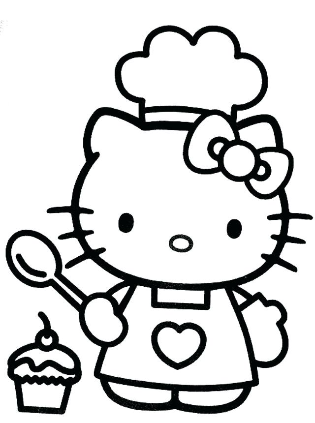 640x860 Good Printable Hello Kitty Coloring Pages Or Free Cool Hello Kitty