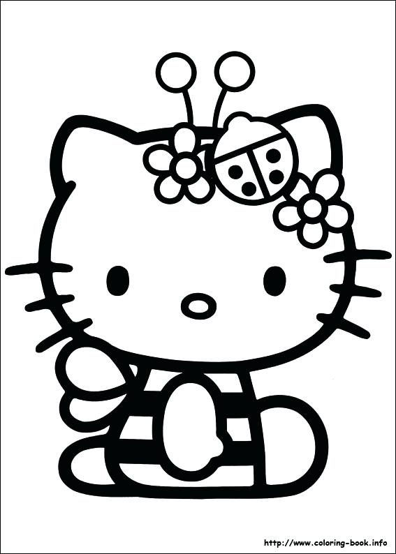 567x794 Hello Kitty Coloring Pages Free Printable Hello Kitty Popular