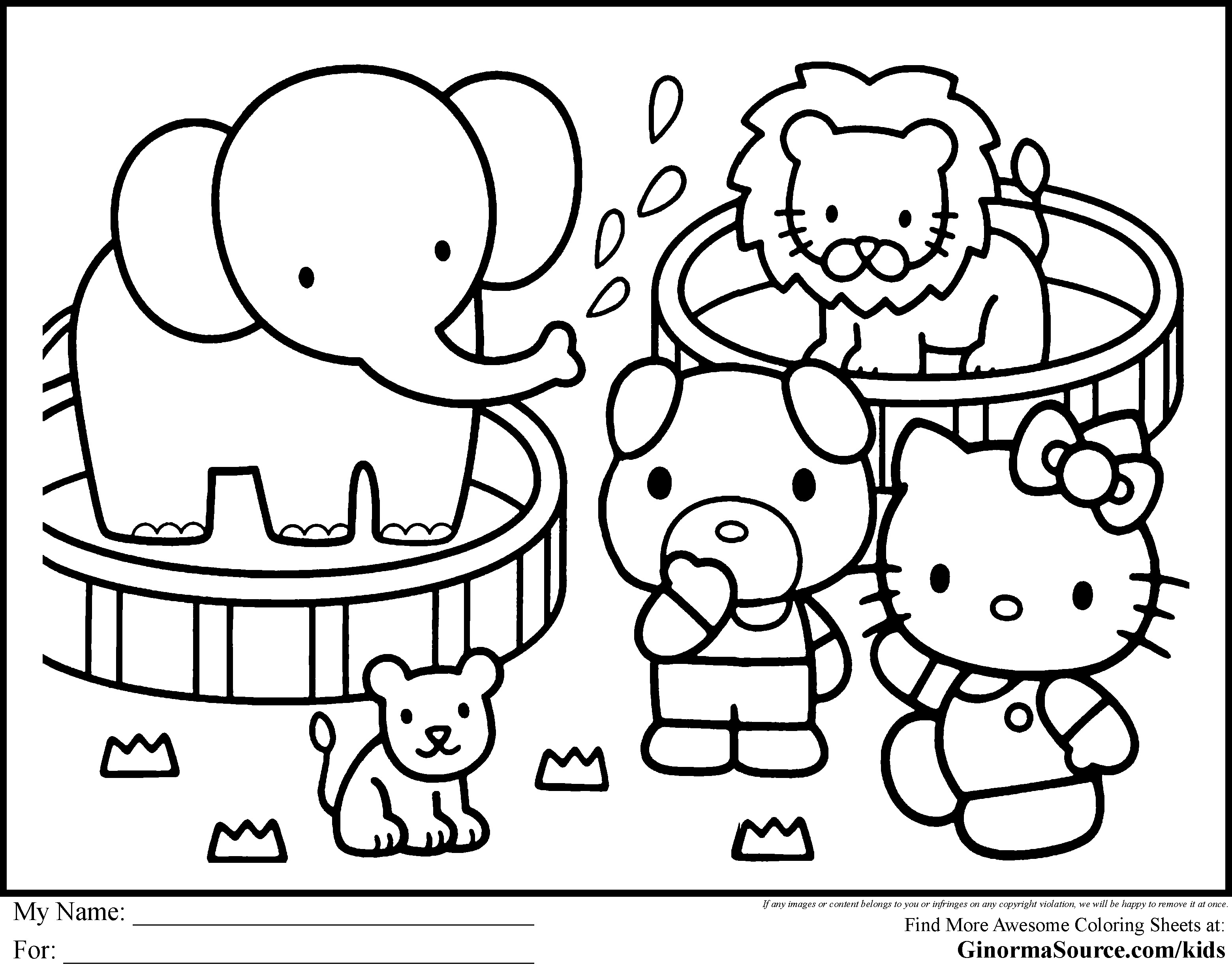 Hello Kitty Coloring Pages To Print Out At Getdrawings Com Free