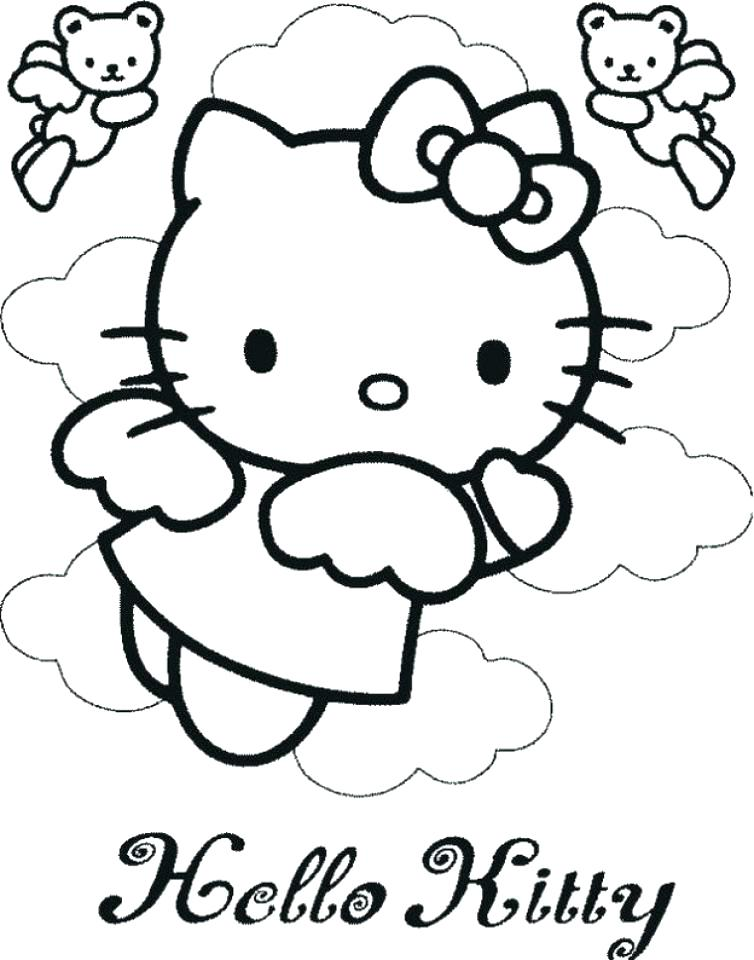 754x960 Hello Kitty Coloring Pages Printable Kitty Coloring Page Hello
