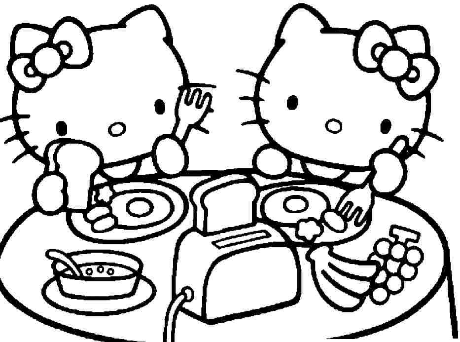 933x693 Coloring Pages For Girls Hello Kitty To Print Printable In Sweet
