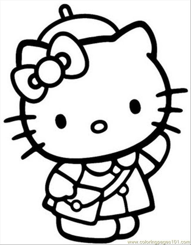 650x836 Hello Kitty Nice Free Coloring Page Hello Kitty, Kids Coloring Pages