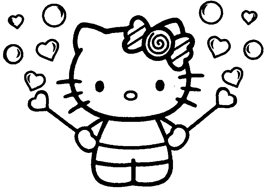 884x608 Hello Kitty Printable Coloring Page Japanese White Cat