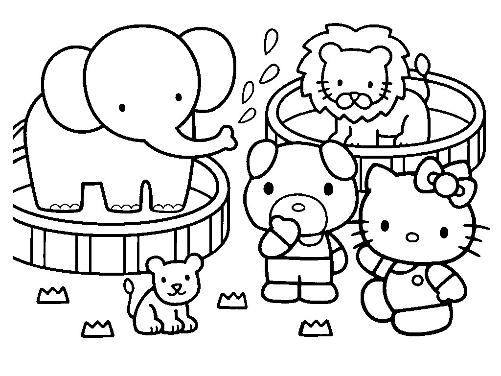 1024x768 Proven Coloring Pages To Print Of Hello Kitty
