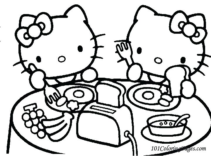 720x532 Hello Kitty Coloring Pages For Kids