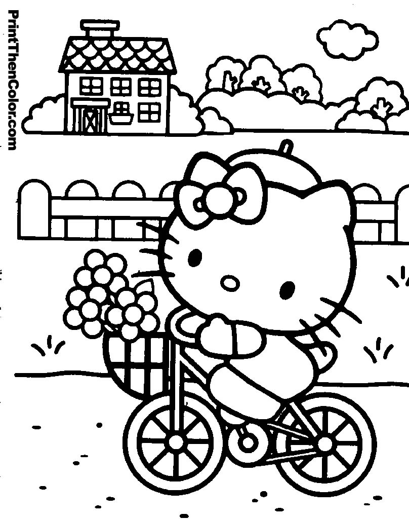 808x1024 Free Printable Hello Kitty Coloring Pages