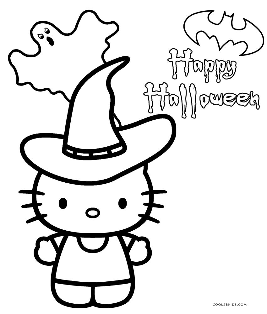 850x1002 Hello Kitty Halloween Coloring Pages
