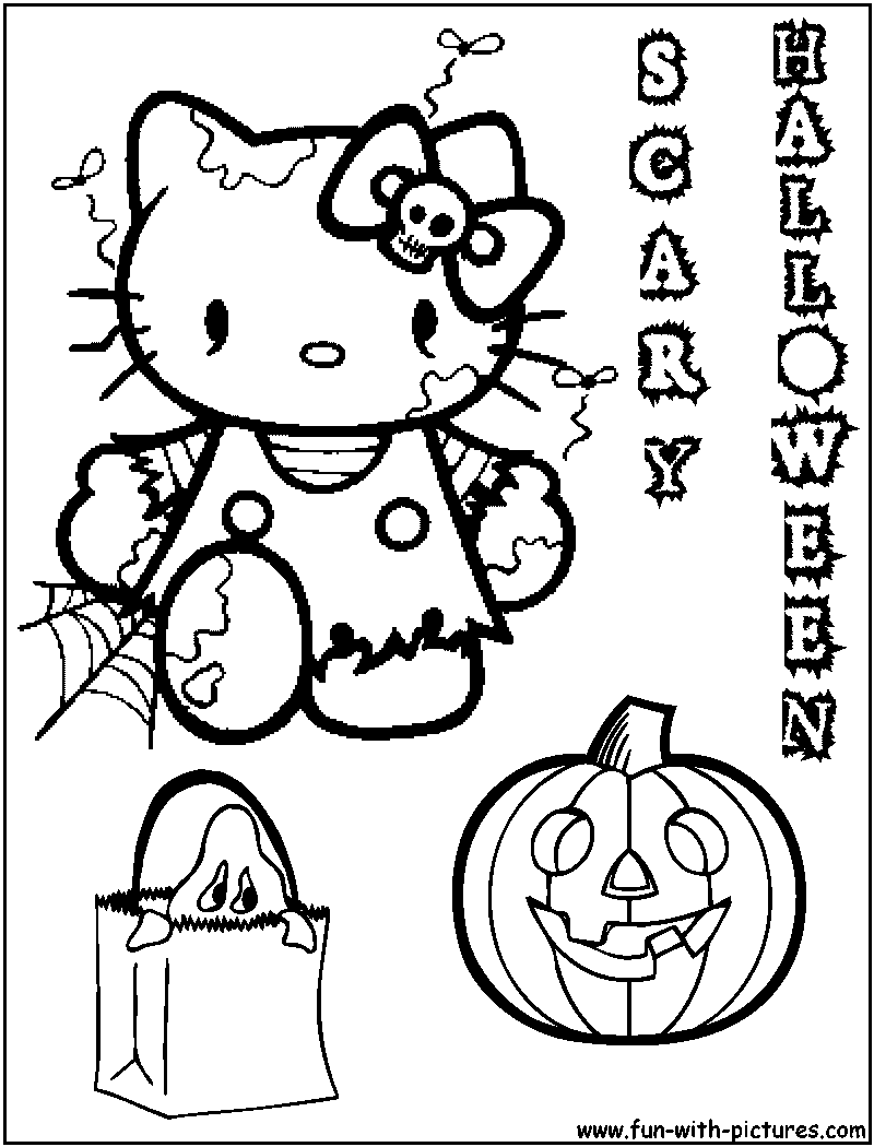 800x1050 Hello Kitty Halloween Coloring Pages Hello Kitty Forever