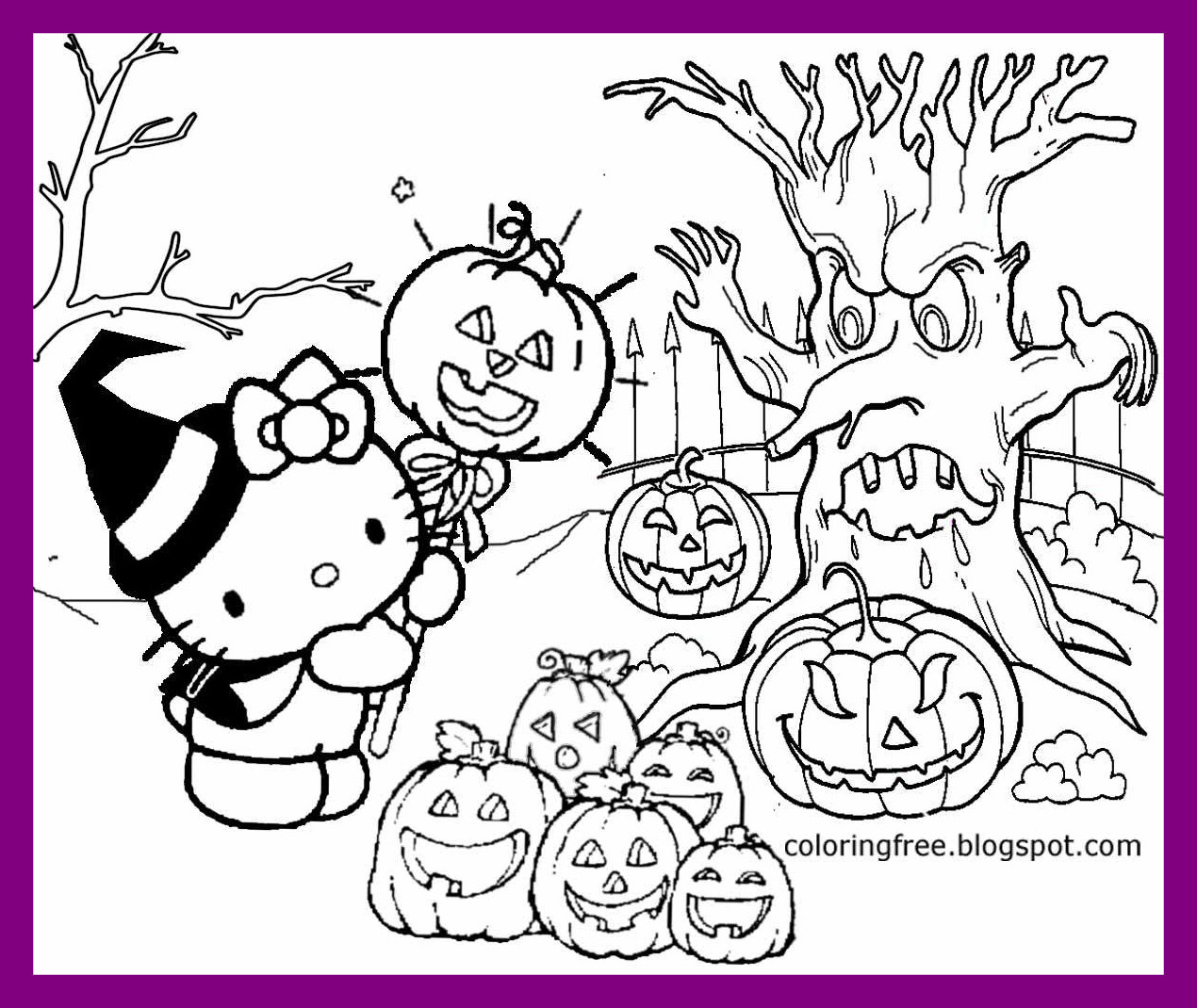 1270x1070 Appealing Hello Kitty Halloween Coloring Page Newyork Rp Pics