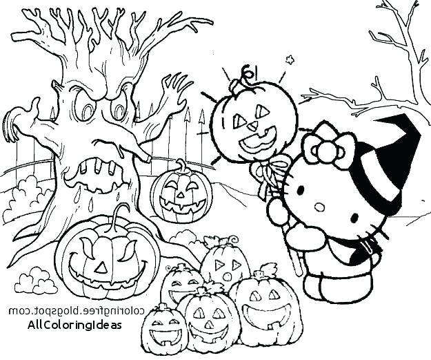 625x521 Hello Kitty Halloween Coloring Pages Hello Kitty Coloring Pages