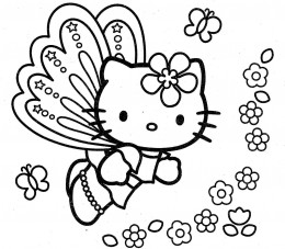 260x227 Hello Kitty Halloween Coloring Pages For Kids