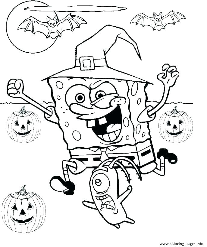 687x817 Halloween Coloring Pages Free