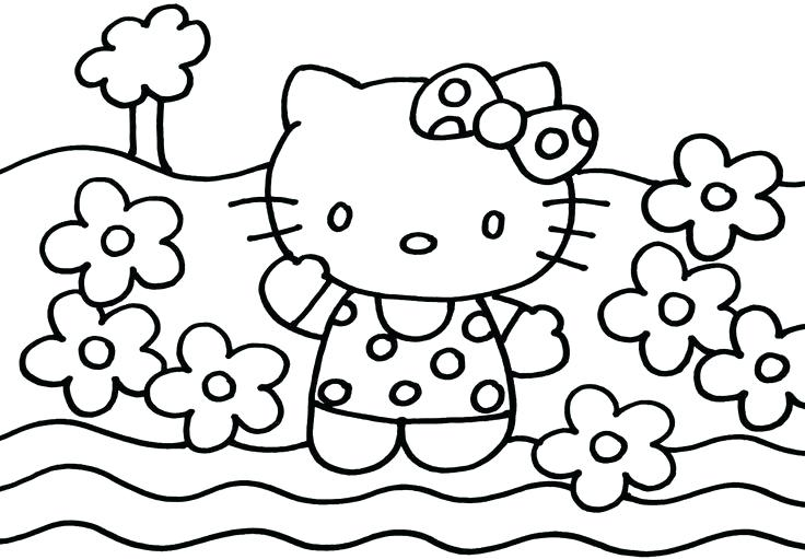 736x511 Free Printable Hello Kitty Coloring Pages Hello Kitty Coloring