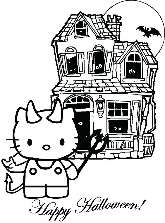 564x762 Halloween Hello Kitty Coloring Pages Halloween Hello Kitty