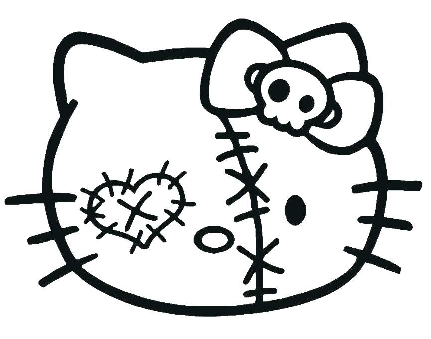 865x682 Halloween Hello Kitty Coloring Pages Hello Kitty Coloring Pages